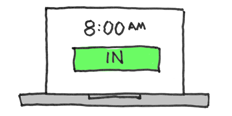 Illustration of an online time clock